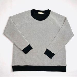 Michael Kors Mens White/Black Crewneck Pullover -L